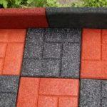 установка резиновых плиток для садовых дорожек цена