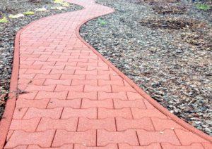 резиновые плитки для садовых дорожек цена