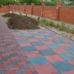 купить резиновые плитки для садовых дорожек цена