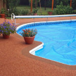резиновое покрытие для бассейна цена