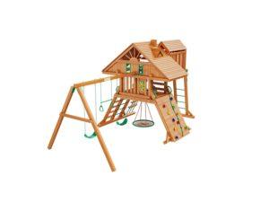 """Деревянная детская площадка для дачи """"Крепость Deluxe"""""""