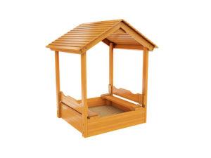 Песочница с деревянной крышей