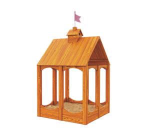 """Детская деревянная песочница """"Замок"""""""