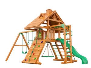 """Деревянная детская площадка для дачи """"Крепость с рукоходом"""" (Дерево)"""