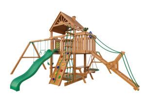 """Деревянная детская площадка для дачи """"Пиратский дом"""" (Дерево)"""