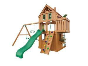 """Деревянная детская площадка для дачи """"Шато 2"""""""