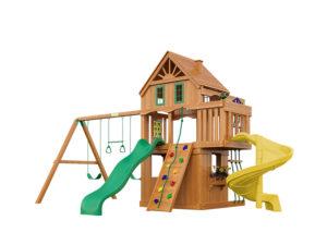 """Деревянная детская площадка для дачи """"Шато Sun 2"""""""