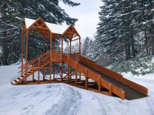 Зимняя горка Snow Fox Макси, скат 8 м